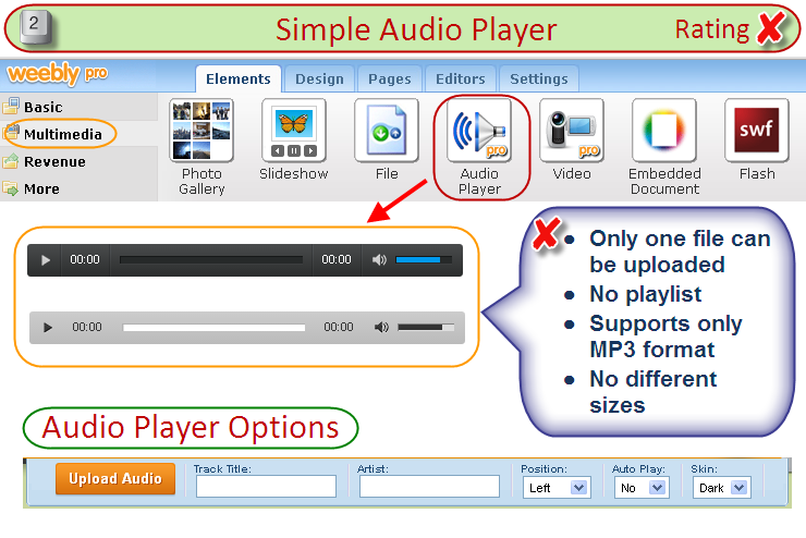 Weebly Audio Player