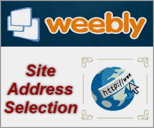 Weebly Site Address Selection