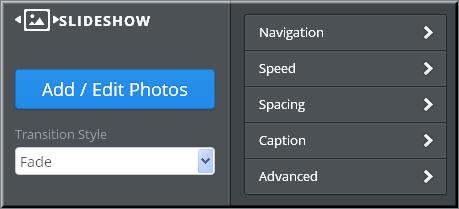 Weebly Slideshow Customizing Options