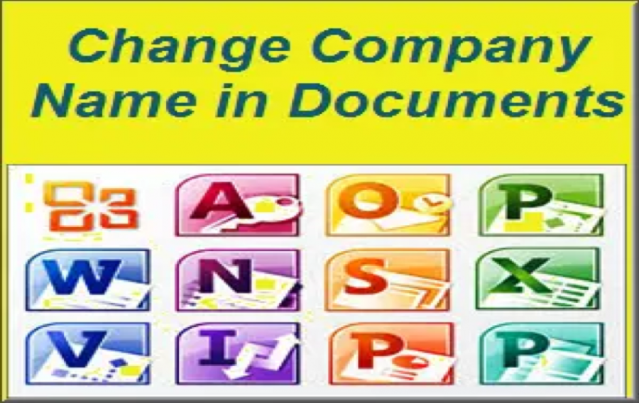 Change Company Name in Office Documents