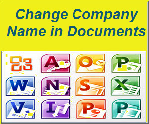 Change Company Name in Microsoft Office Documents