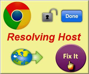 Fix Chrome Resolving Host Issue