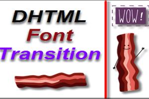 Font Transition Widget