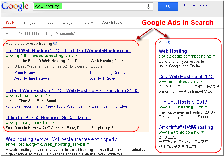 Google Ads Showing in Search Results