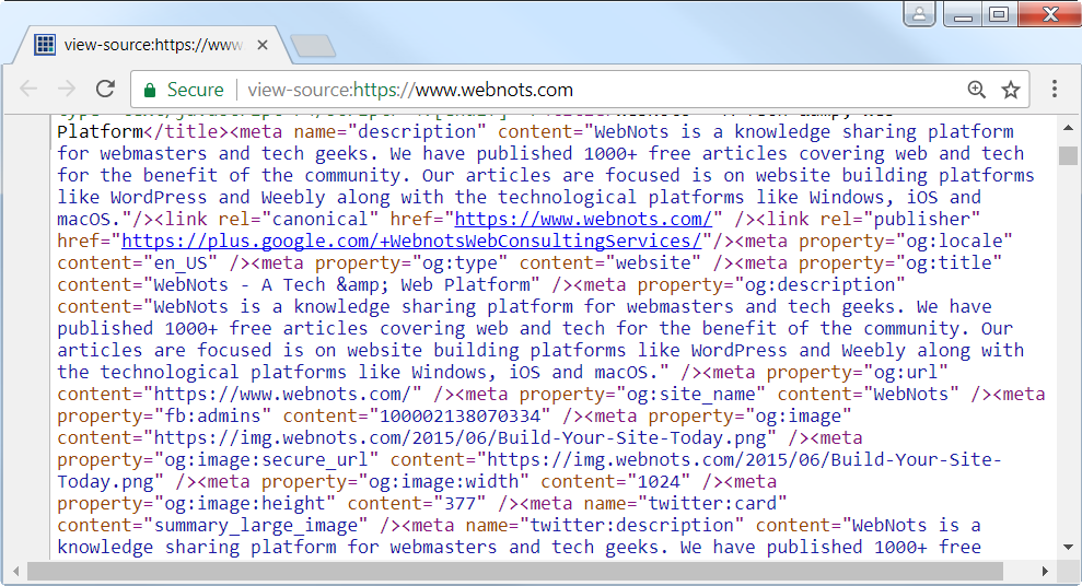 Minified Source Code Viewed in Chrome