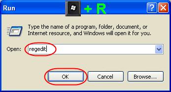 Open Regedit in Windows