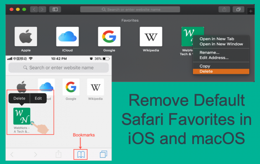 Remove Thumbnails from iOS Safari Home and New Tab Page