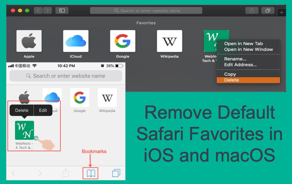 how to delete favorites on safari mac