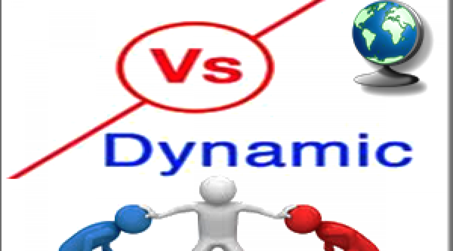 Comparison of Static and Dynamic Website