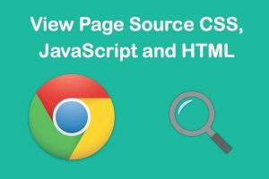 View Page Source CSS, JS and HTML in Chrome