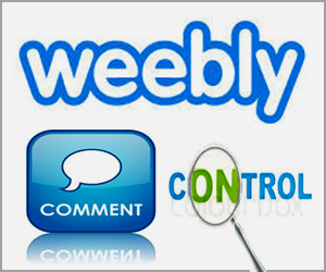 Weebly Blog Comment Control System