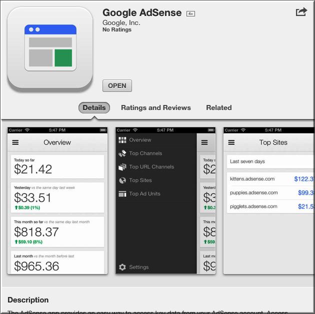 Приложение AdSense для iOS