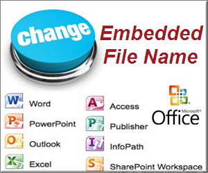Change Embedded Object Name in Office