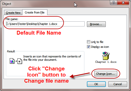 Change Icon & File name