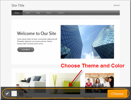 Choosing a Weebly Theme