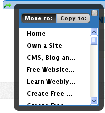 Copy, Delete and Move Weebly Elements