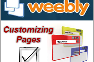 Customizing Weebly Pages