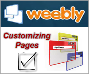 Weebly Page Settings