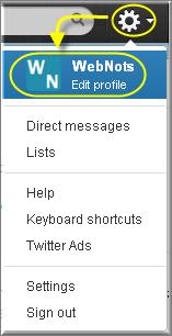 Editing Twitter Profile