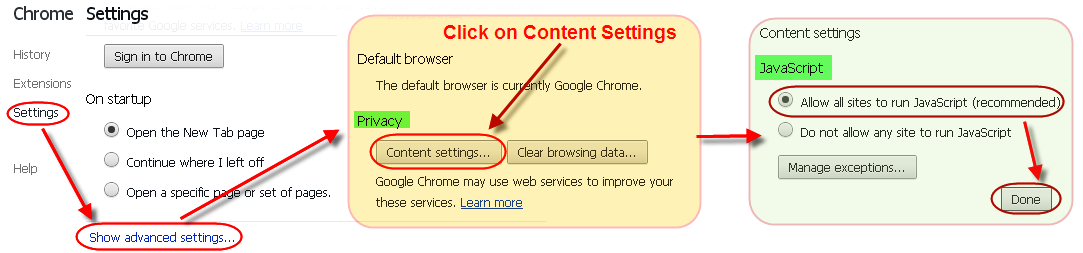 Enable or Disable JavaScript in Chrome