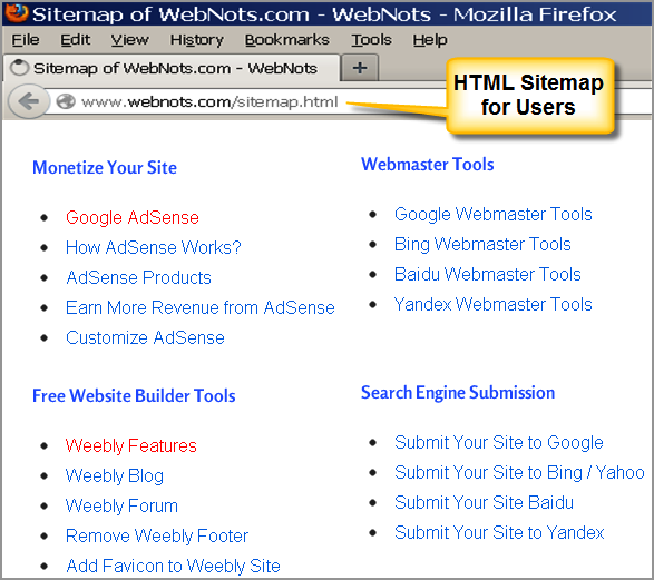 seo for site navigation webnots