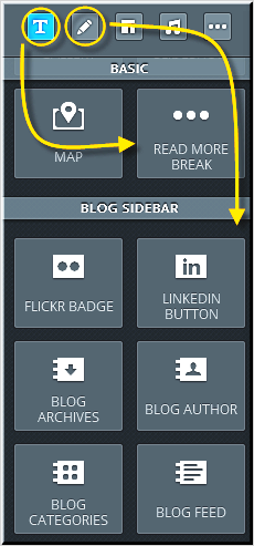Weebly Blog Sidebar Elements