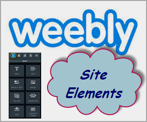 Weebly Site Elements