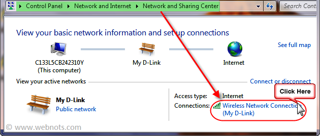 Active Network in Network Sharing Center