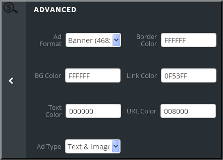 Ad Customizing Options