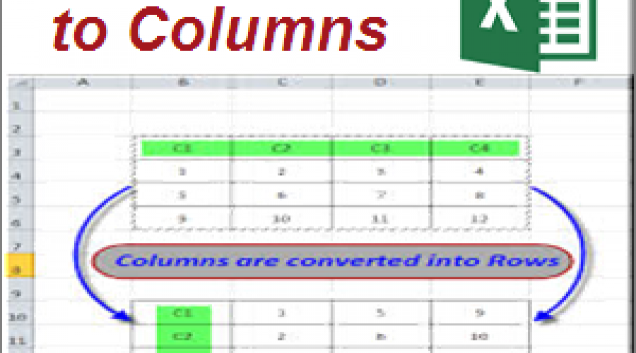 Convert Columns to Rows and Rows to Columns in Microsoft Excel