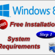 Installing Free Windows 8.1 – Step1: Checking System Requirements