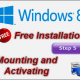 Installing Free Windows 8.1 – Step5: Mounting On Hard Drive and Activating
