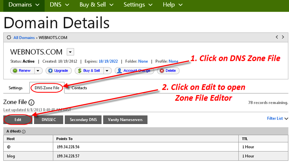 How to edit an essay zone file in dns