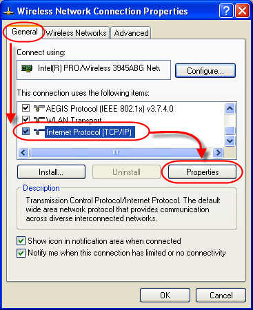 Open Internet Protocol Properties