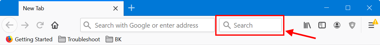 Separate Search Box in Firefox