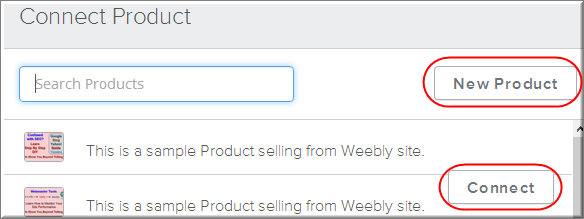 Add an Existing or New Product in Weebly