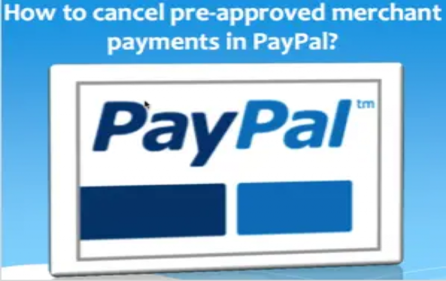 Cancel Automatic Payments in PayPal