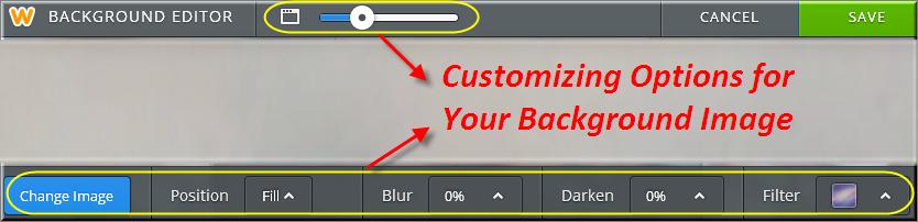 Customizing Weebly Background Image