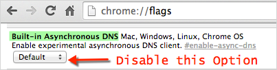 Disabling Flag in Google Chrome