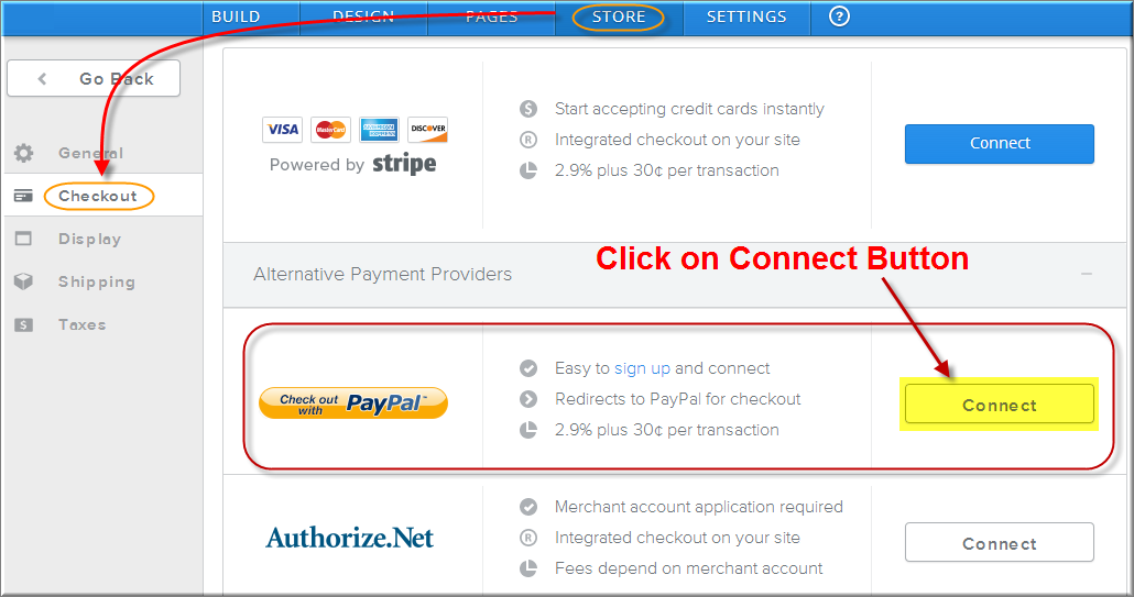 Enable PayPal Checkout Option in Weebly