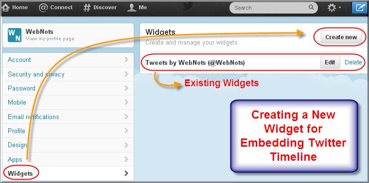 Creating a Twitter Widget