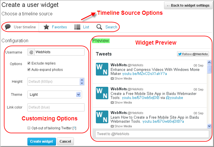 Customizing Twitter Timeline Widget