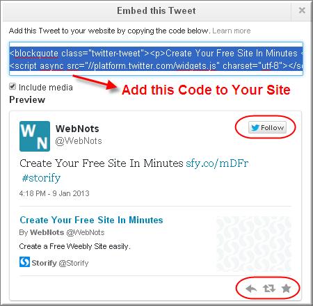 Embed Code for Twitter Single Tweet
