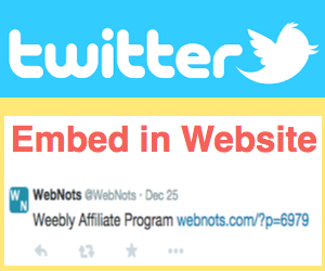 Embed Tweets in Website