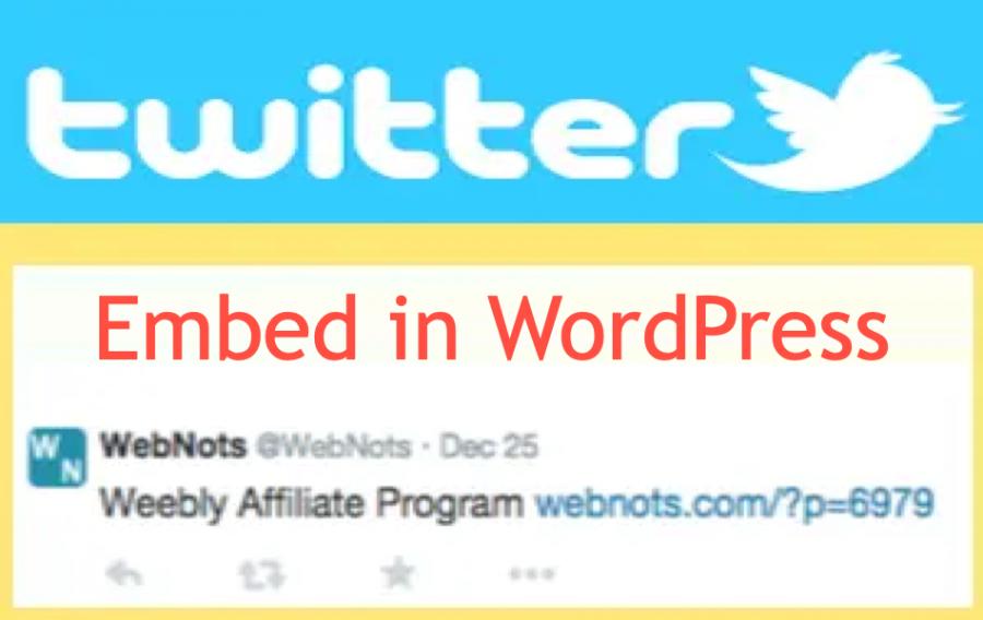 Embed Twitter Tweet in WordPress