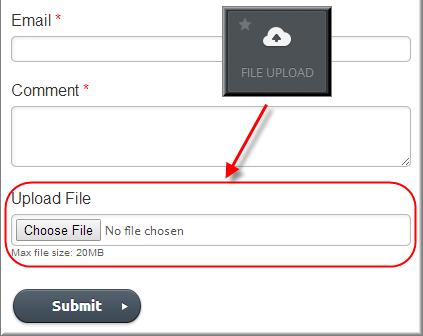 Загрузка файла в форме Weebly
