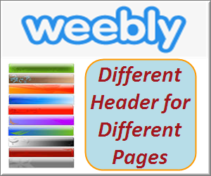 Weebly Different Header for Different Pages