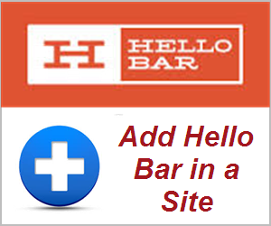 How to Add Hello bar in Your Website?