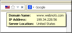 Browser Showing IP and Domain Name