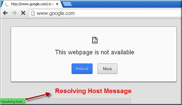 DNS Lookup Fail